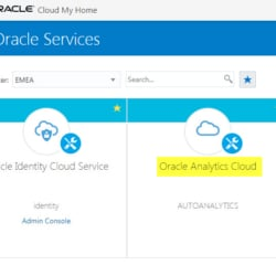 OAC - How to Create Oracle Autonomous Essbase and OBI Analytics
