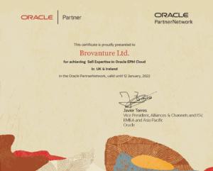 Brovanture Oracle EPM Cloud Certificate