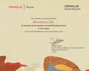 Oracle Cloud EPM Service certificate