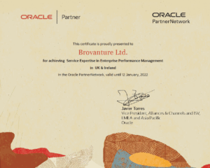 Oracle EPM expertise Certificate